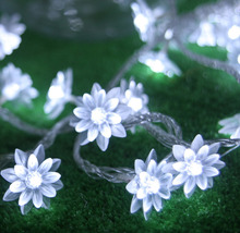220V 10M 50LED Lotus Flower String Fairy lights led decorative light for home decor Wedding/Christmas party/Garland Decoration