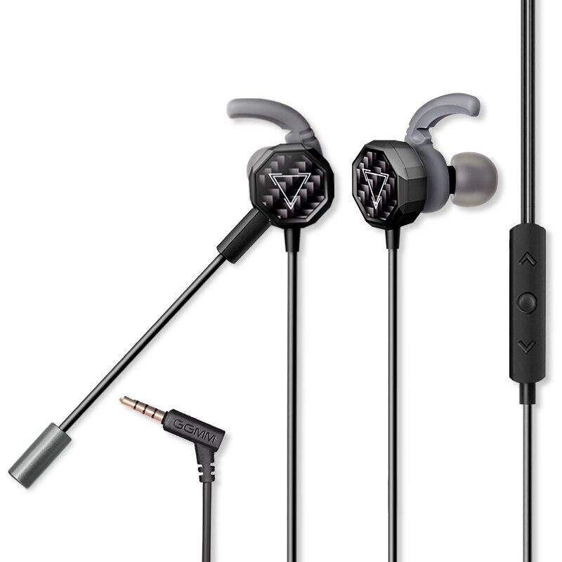 GGMM G1 juego auricular auriculares con micrófono bajo pesado de auriculares Mini PC jugador con claro Control de volumen para PUBG CSGO juegos