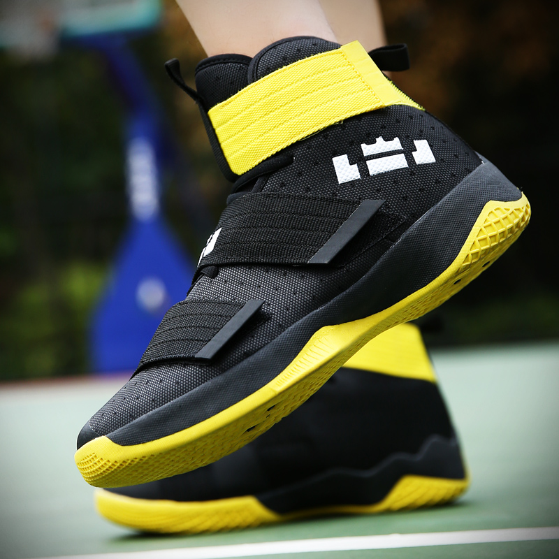 2019 New Men's basketball Shoes Zapatillas Hombre Deportiva Yellow Breathable Men Ankle Boots Basketball Sneakers Athletic Shoes