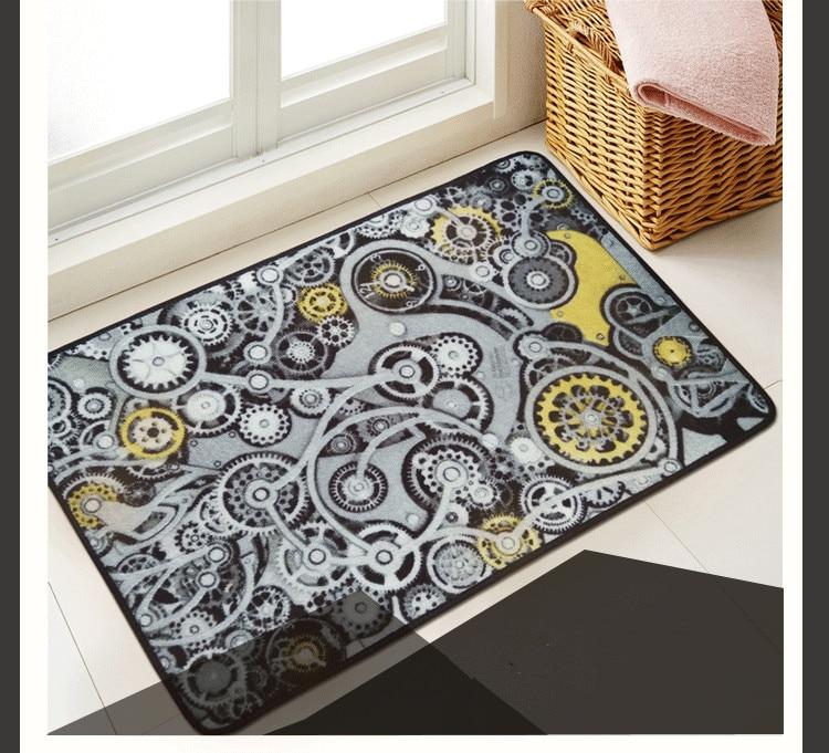 € 29.82 |Style industriel tapis mécanicien engins tapis design original  tapis de porte antidérapant Créatif style moderne chambre à coucher ...