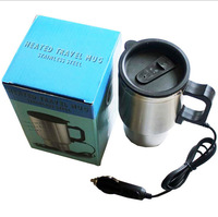 Newest 12v 70W Hot Sale 300mL Metal Stainless Steel Car Electric Heating Cup Hot Water Coffee