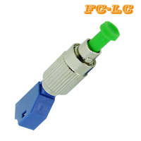 5pcs/lot SC to LC Adapter, Singlemode 9/125 Male to Female hybrid adaptor SC LC Optical fiber connector SC LC Adapter