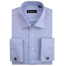 2015 New Autumn High Quality Fashion Striped Mens Cufflink Shirts High Quality Long Sleeve French Cuff Dress Shirt Boss Men
