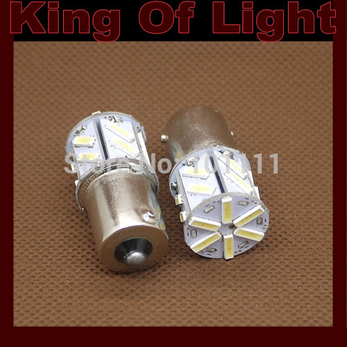2x car led P21w s25 ba15s 1156 18smd 7014 18 led smd light bulb lamp Free shipping