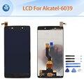 """Черный ЖК-ДИСПЛЕЙ для Alcatel OneTouch Idol 3 6039 6039Y OT6039 ЖК-дисплей с сенсорным экраном дигитайзер ассамблеи 4.7 """"экран бесплатные инструменты,"""
