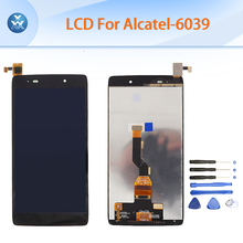 Black LCD for Alcatel OT6039 OneTouch Idol 3 6039 6039Y LCD display touch screen digitizer assembly 4.7″ pantalla free tools