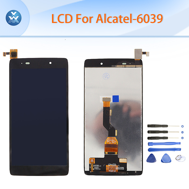 "Black LCD for Alcatel OT6039 OneTouch Idol 3 6039 6039Y LCD display touch screen digitizer assembly 4.7"" pantalla free tools"