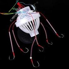Outdoor Fishing Tackle Sea Fishing Box Hook Monsters with Six Sharp Fishing Hooks