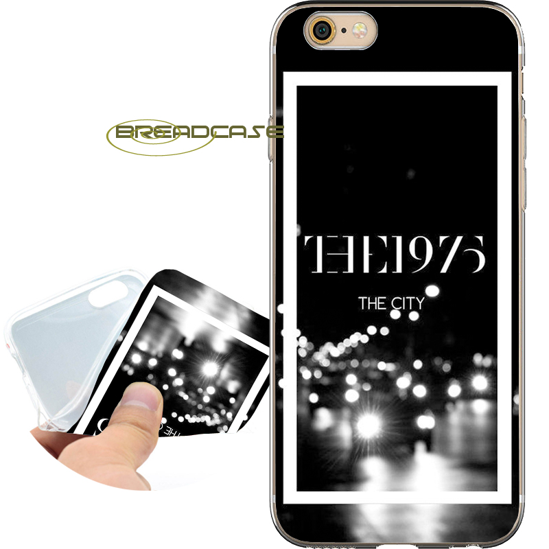 Coque Black The 1975 Soft Clear TPU Silicone Phone Cases for iPhone X 8 7 6S 6 Plus 5S SE 5 5C