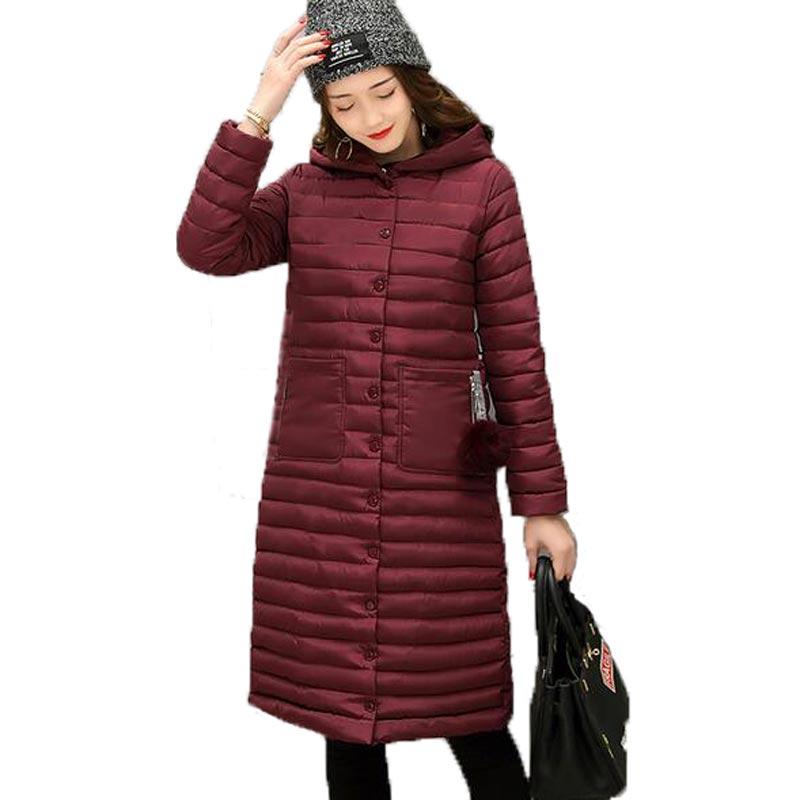 2017 New Spring Jacket Parka Women Winter Coat Women's Warm Outwear slim Cotton Padded Long Jackets hooded Coats High Quality