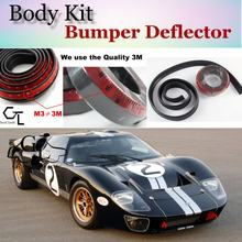Bumper Lip Deflector Lips For Ford Gt Front Spoiler Skirt For Topgear Fans Car View Tuning Body Kit Strip