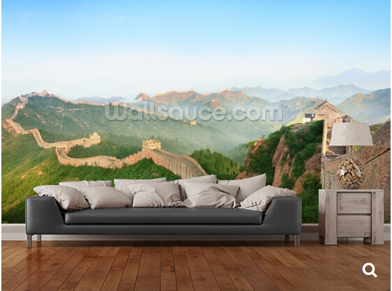 Custom natural wallpaper,Great Wall of China Landscape,3D photo mural for living room bedroom dining wall waterproof wallpaper modern natural 3d mural wallpaper out of the woods landscape photo prints on embossed wall paper 3d room wallpaper mural rolls