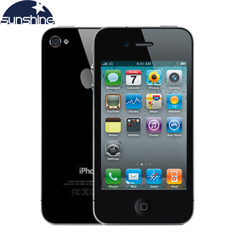 iphone4 unlocked original apple iphone 4 mobile phone 3 5 ips used phone gps ios smartphone. Black Bedroom Furniture Sets. Home Design Ideas