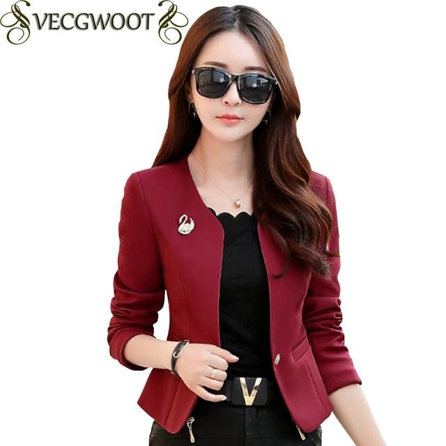 4 colores nueva primavera y otoño chaqueta de las mujeres