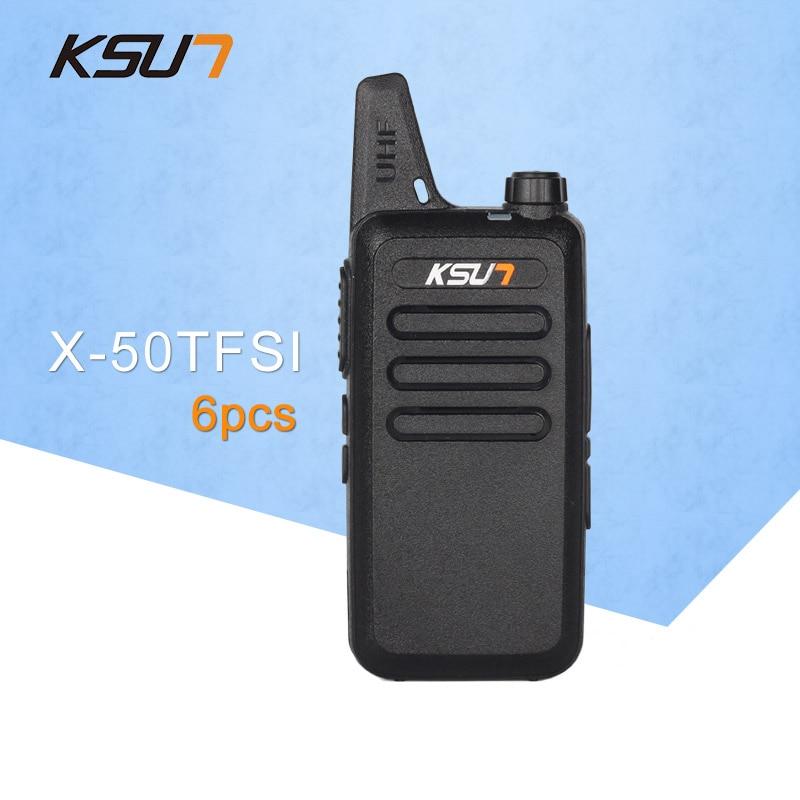 (6 PCS)KSUN X-50TFSI Ham Two Way Radio Walkie Talkie Dual-Band Transceiver BUXUN X-50(Black)  - buy with discount