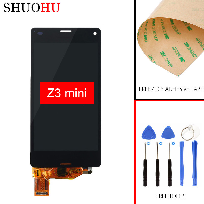 Подробнее о Tested LCD Screen 4.3 inch For Sony Xperia Z3 Mini Compact D5803 D5833 LCD Display Touch Digitizer Screen black White Assembly 10pcs free dhl black white lcd display touch screen digitizer assembly with frame for sony xperia z3 mini compact d5803 d5833