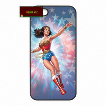 Wonder Woman Super Hero Обложка case для iphone 4 4s 5 5s 5c 6 6 s плюс samsung galaxy S3 S4 mini S5 S6 Note 2 3 4 zw0250(China)