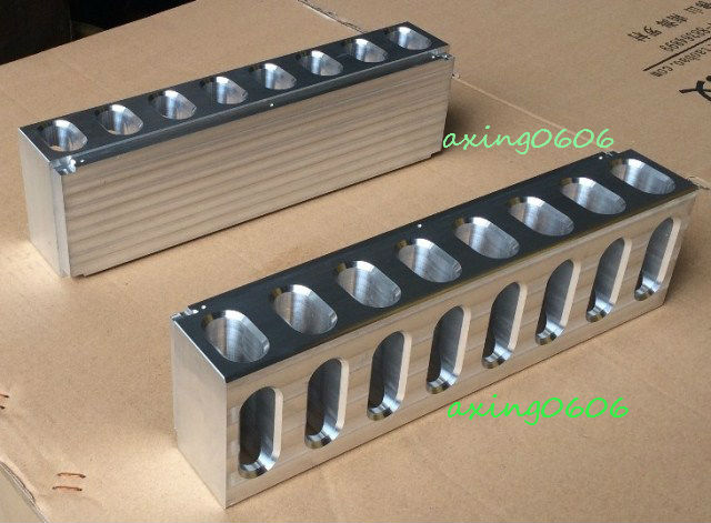 1pcs full Aluminum precision CNC processing power amplifier heatsink 320*90*60mm precision processing aluminum prototyping cnc milling service