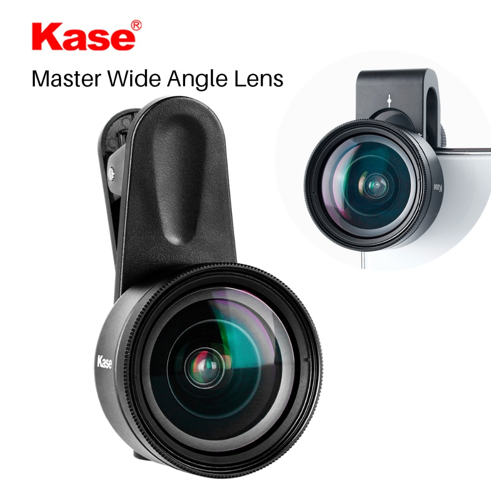 Kase 16MM Master Wide Angle Phone Lens with 58mm Filter Clip on Mobile Lenses for iPhone