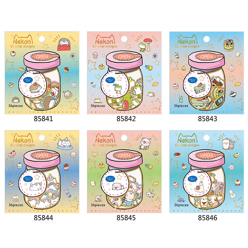 36 Pcs/Lot Cute Animal Hedgehog PVC Paper Sticker Package DIY Diary Decoration Sticker Album Scrapbooking