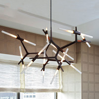 2/6/10 Head Modern Black / Gold Hill Agnes Diner / Cafe Pendant Light Minimalist Branch Nordic Lindsey Lights Free Shipping