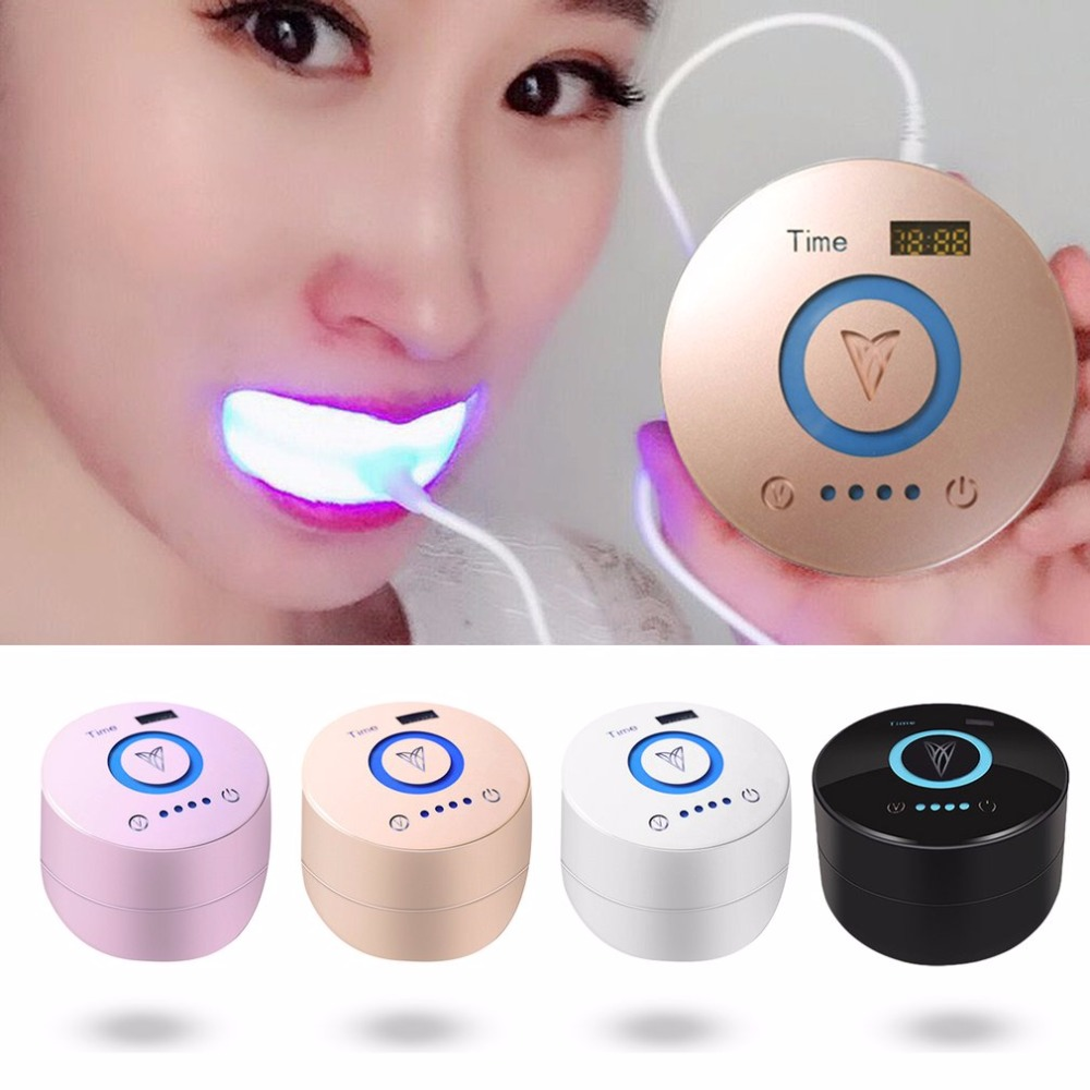 Clod Blue Light Teeth Whitening Machine Home Use Oral Cleaning Tool Dental Equipment Portable Teeth Smoke Stains Remover 3 in 1 teeth whitening led dental tool kit oral hygiene care mirror