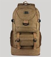 Large Capacity Backpack Heightening Canvas Backpack Shoulders Male Female Student Bag Luggage Bag