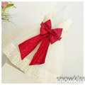 2016 New Lace flower girl dresses with Red Bow Baby Birthday Party Dress ball gowns toddler princess pageant dresses