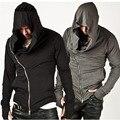Assassins Creed Com Capuz Hoodies dos homens Macho Manga Streetwear Camisola Hoodies Homens EUA Tamanho XXXL