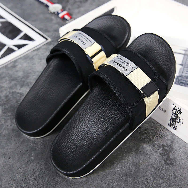 Men Summer Shoes Casual Indoor Home Man Thick Bottom Flat Comfortable Water Beach Slides