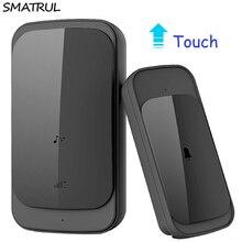 SMATRUL touch Waterproof Wireless Doorbell EU Plug 280M long range smart Door Bell Chime no batttery 1 button 1 2 receiver