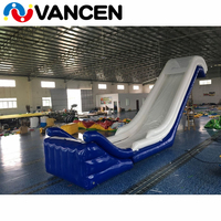 Fashion inflatable yacht slide 6mH giant inflatable water toys triangle slides cheap price inflatable water slide for sale
