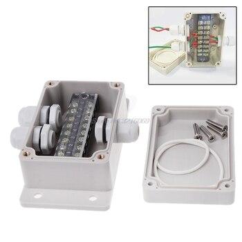 ABS wodoodporna skrzynka przyłączeniowa pudełka na zewnątrz połączeń rozdzielczych łączności kryty monitorowania pole elektryczne ogrodzenia etui z dławnice do kabli