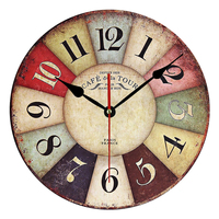2017 Modern Design Wooden Wall Clock Vintage Rustic Shabby Chic Home Office Cafe Decoration Art Large