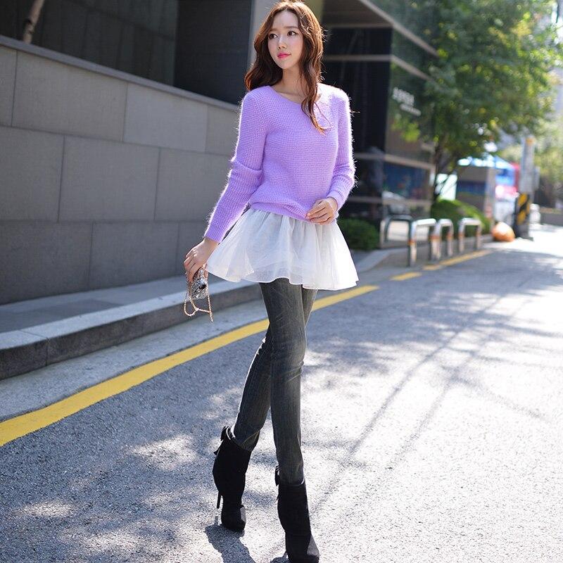 DABUWAWA Original New 2016 Brand Autumn Slim Fashion Pencil Pants Jeans Women Plus Size