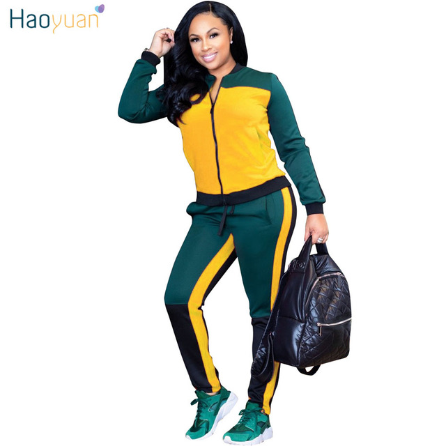 6fa1232289d HAOYUAN Women Two Piece Outfits Autumn Winter Sweatsuit Plus Size Tops and Pants  Sweat Suits Tracksuits 2 Piece Matching Sets