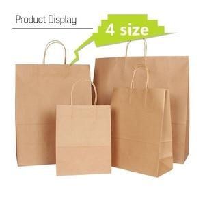 Image 1 - 30 قطعة/الوحدة 4 حجم كرافت ورقة حقيبة مع مقابض لحفل زفاف ملابس عصرية هدايا متعددة الوظائف بالجملة
