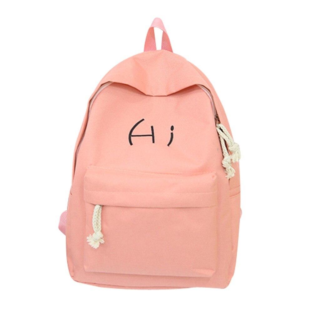 Color : Black TLMY Fashion Trend Backpack Versatile School Bag Campus Student Backpack Backpack