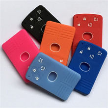 silicone rubber car key fob cover case skin protect case for Mazda 5 6 8 M8 CX-7 CX-9 4 buttons  smart card remote key