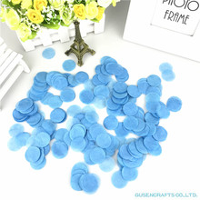 Лот 1500 2,5 см круглая форма свадебные спринклеры синие конфетти из папиросной бумаги Boda День Рождения украшения стола наполнители для пиньяты