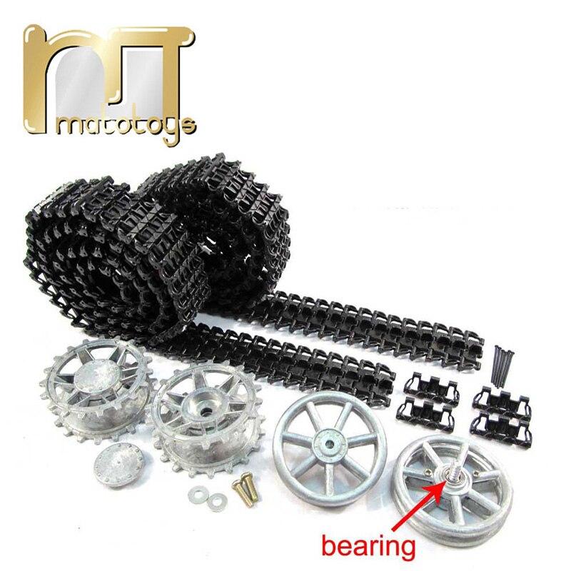 Mato Metal Upgraded Parts Tracks Sprockets Idler Wheels Set For Heng Long 3858 1 1 16