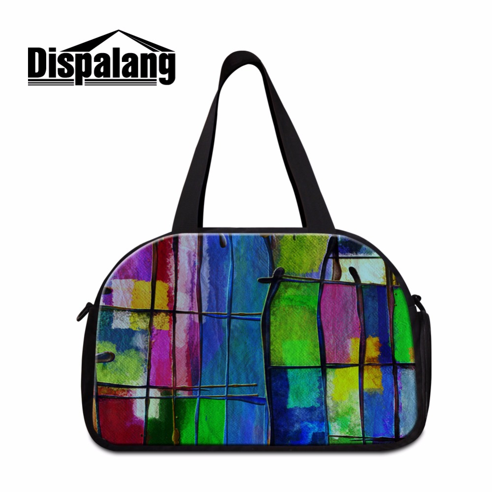 Dispalang Women's Travel Bags Colored Lightweight Shoulder Duffle Bags for Girls <font><b>Day</b></font> Bags for Traveling Big with Shoe pocket image