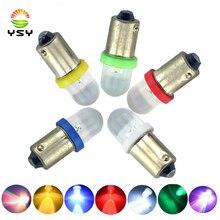 YSY 50 шт 12В DC BA9S 1 светодиодный F8 1 SMD T4W T11 светодиодный лампы выпуклая линза белый синий красный янтарь зеленый пинбол автомобильные лампы