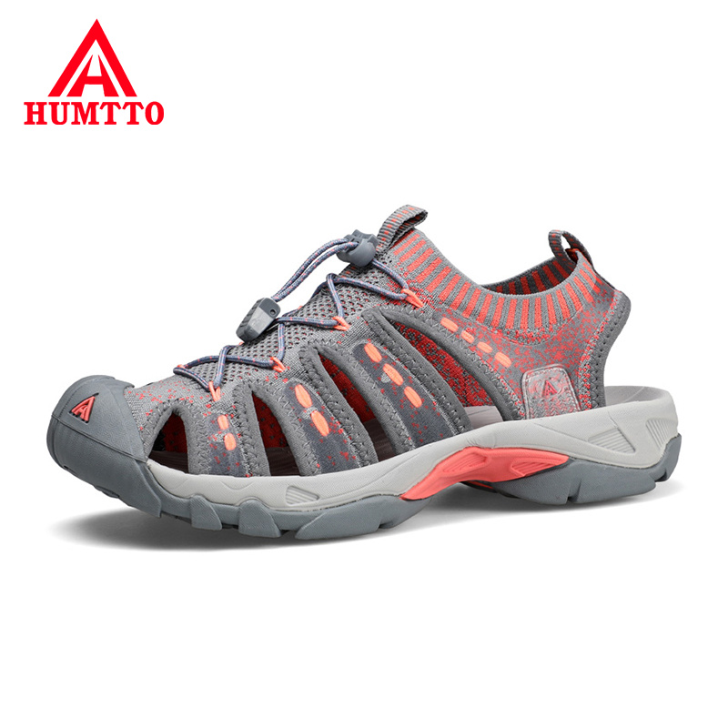 HUMTTO Summer Best Selling Women Beach Shoes Breathable Flying Weaving Roman Style Woman's Outdoor Sandals Size 36-40