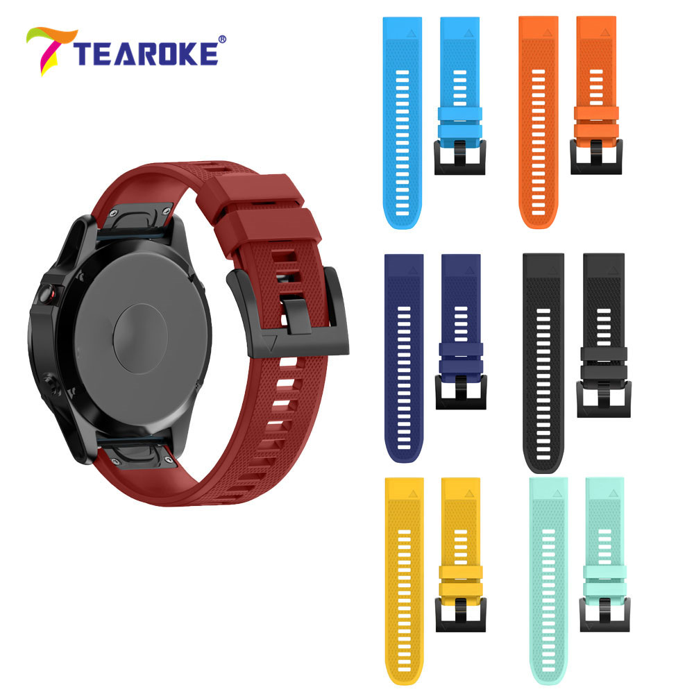 TEAROKE 11 Colors Silicone Soft Watchband for Garmin fenix 5 / forerunner 935 Quick Release 22mm Replacement Bracelet Band Strap часы garmin forerunner 935
