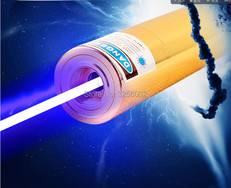 High Power Military 1000000m 450nm Flashlight Powerful Adjustable Focus Blue Laser Pointer Lazer Torch Burn match lit cigarette