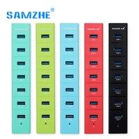 SAMZHE USB 3 0 HUB 7 Ports Splitter Green Blue Red Black Reseda HUB Adapter For