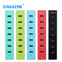 SAMZHE USB 3 0 HUB 7 Ports Splitter Green Blue Red Black Reseda HUB Adapter For