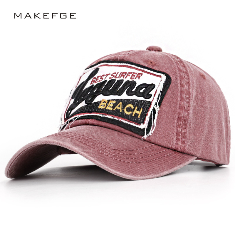 Baseball-Cap Beach-Surfers Letters Washing The Do Cotton Gorras Han-Edition Rushed Retro-Supplement