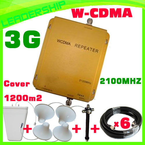 Home Use Up To 1200sqm Wholesale HUIBO WCDMA980 2100mhz 3G  Cell/mobile Phone Repeater Booster Detector Repetidor With Antennas